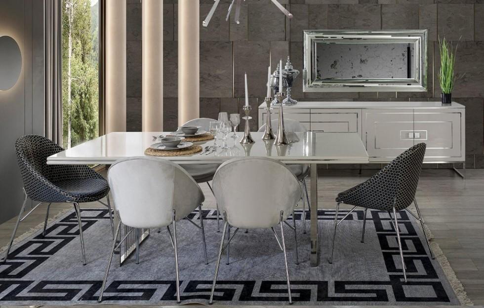 Florance Modernes Esszimmer Weiß - Stuhle