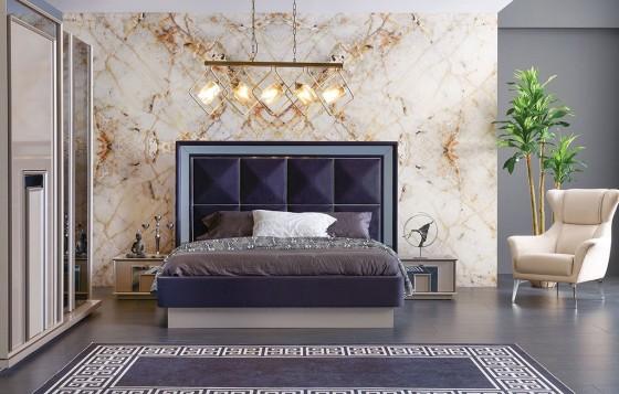 Nil Modernes Schlafzimmer - Doppelbettgestell