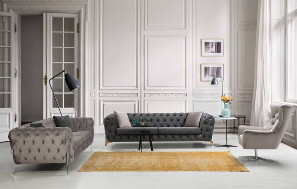 Tesla Modernes Sofa Set 3+3+1