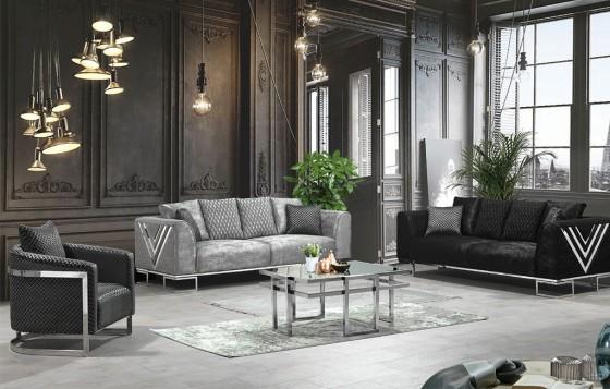 Wersage  Modernes Sofa Set 3+3+1