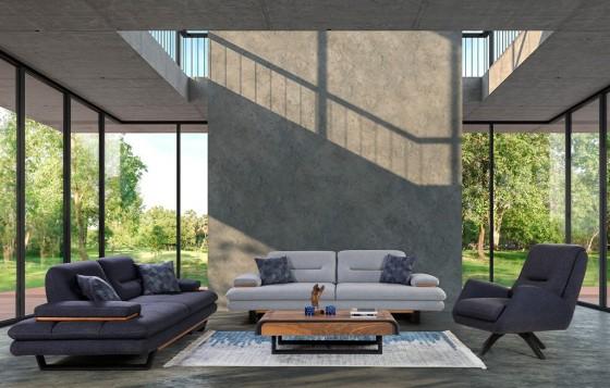 Efes Modernes Sofa Set 3+3+1