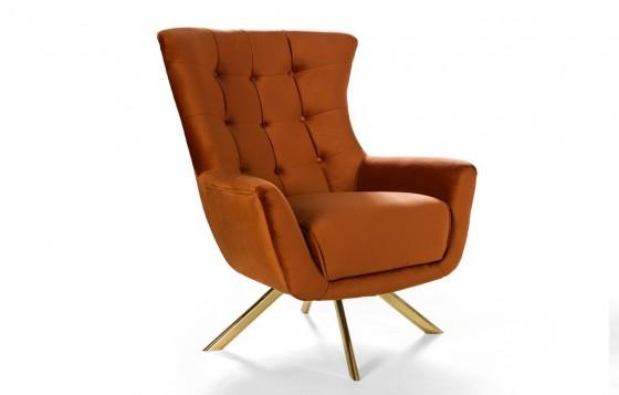 Kiev Modernes Sofa Set Orange-Creme  3+3+1
