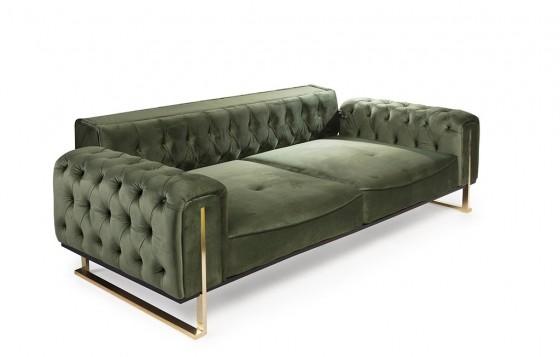 Kiev Modernes Sofa Set Grün  3+3+1