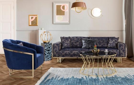 Madrid Lux Modernes Sofa Set 3+3+1