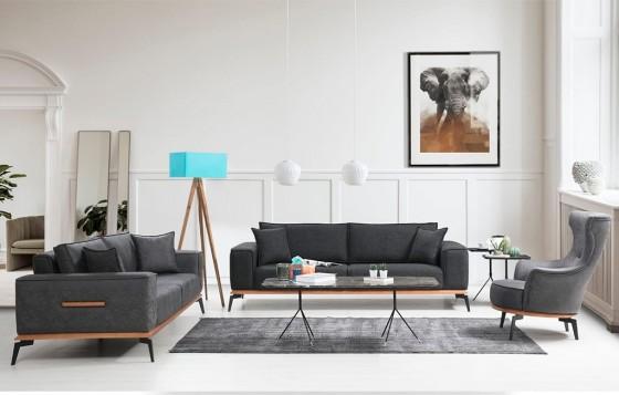 Lotus Modernes Sofa Set 3+3+1