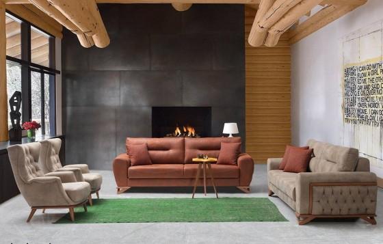 Miami Modernes Sofa Set 3+3+1