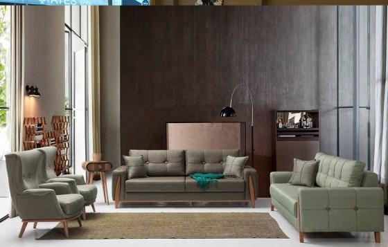 Paris Modernes Sofa Set 3+3+1
