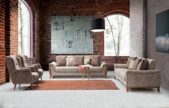 Boston Modernes Sofa Set 3+3+1