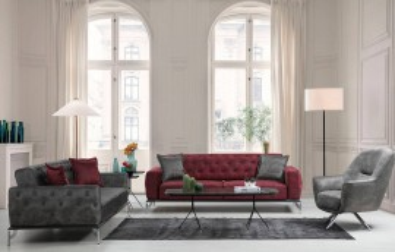 Bugatti Modernes Sofa Set 3+3+1