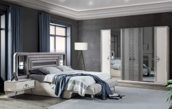 Rose Modernes Schlafzimmer