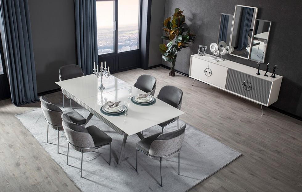 Rose Modernes Esszimmer - Stuhle