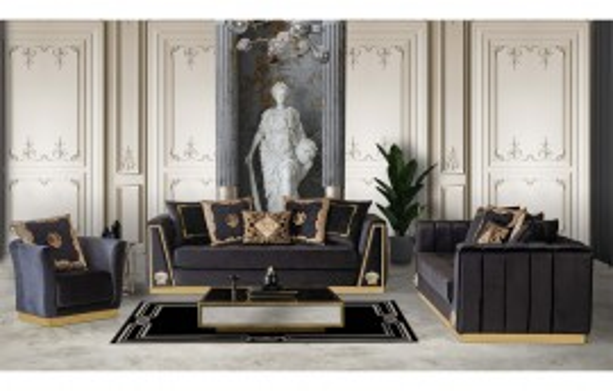 Medusa Modernes Sofa Set 3+3+1