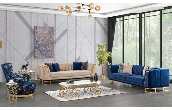 Zen Modernes Sofa Set 3+3+1
