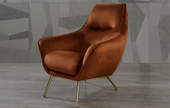 Amor Modernes Weiß - Orange  - Sessel