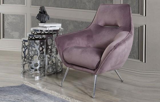 Amor Modernes Flieder - Lavendel  - Sessel