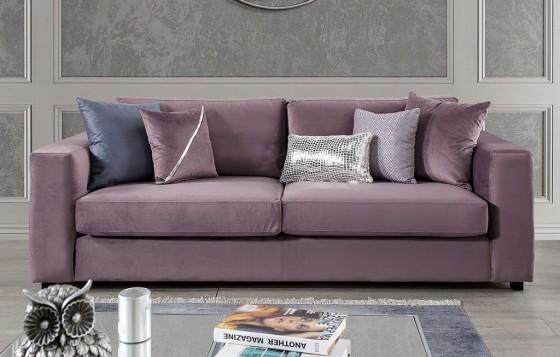 Amor Modernes Flieder - Lavendel  - 3-Sitzer