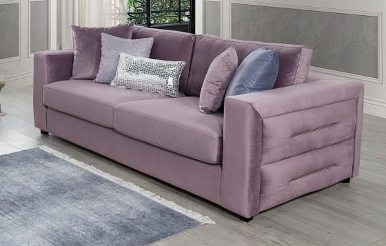 Amor Modernes Sofa Set Flieder - Lavendel 3+3+1