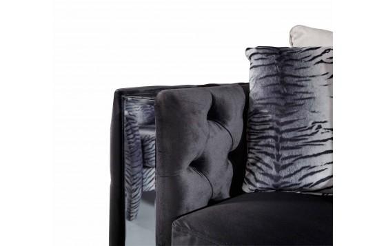 Karaca Modernes Sofa Set Schwarz 3+3+1