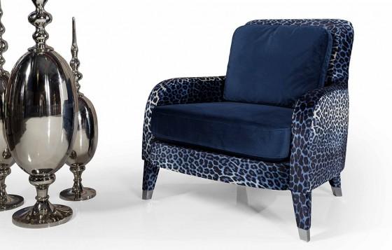 Nirvana Modernes Weiß - Blau  - Sessel