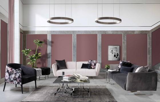 Milano Modernes Sofa Set Creme - Schwarz 3+3+1