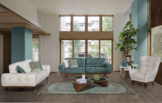 Form Modernes Sofa Set 3+3+1