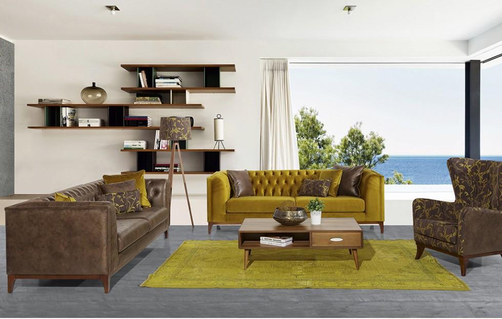 Urban Chester Sofa Set 3+3+1