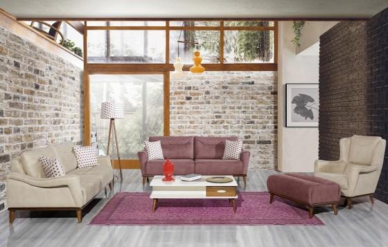 Carmen Modernes Sofa Set 3+3+1