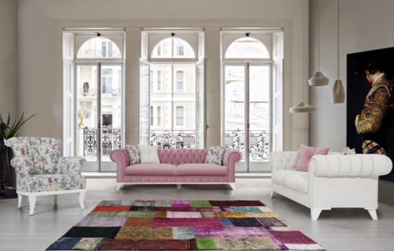 Ancona Modernes Sofa Set 3+3+1