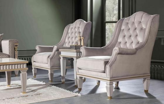 Istanbul Klassiche Weiß - Sessel