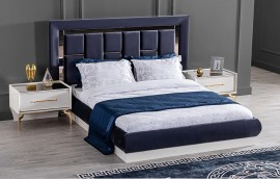 Titanium Gold Modernes Schlafzimmer - Doppelbettgestell