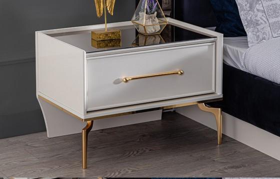 Titanium Gold Modernes Schlafzimmer - Nachttische