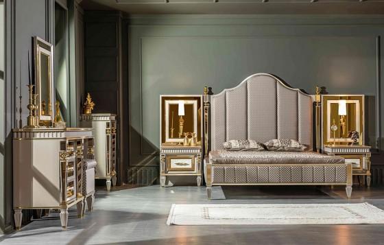 Istanbul Klassiche Schlafzimmer Creme - Nachttische