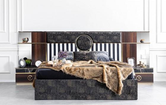 Ramsey Modernes Schlafzimmer - Doppelbettgestell